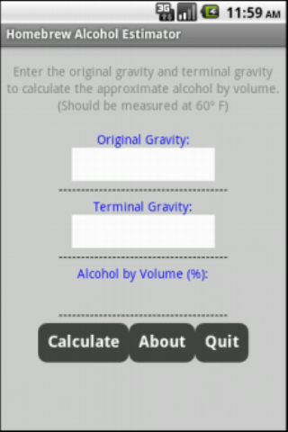 Homebrew Alcohol Estimator (Android)